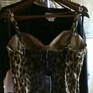 Kardashian leopard night out dress